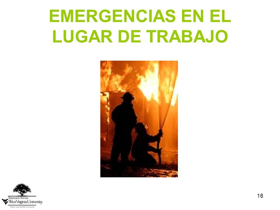 16 EMERGENCIAS EN EL LUGAR DE TRABAJO