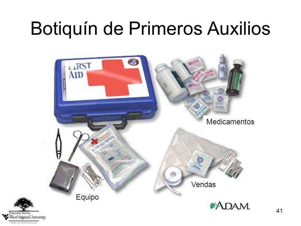 41 Botiquín de Primeros Auxilios Medicamentos Vendas Equipo