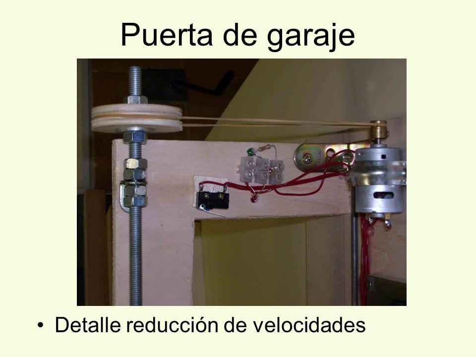 Puerta de garaje Detalle reducción de velocidades