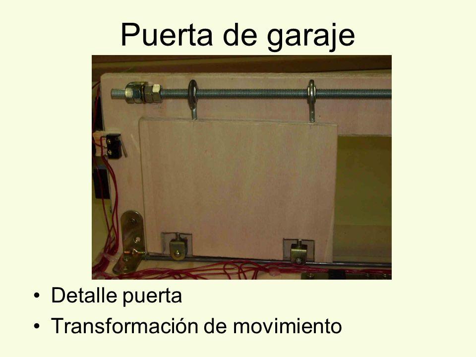 Puerta de garaje Detalle puerta Transformación de movimiento