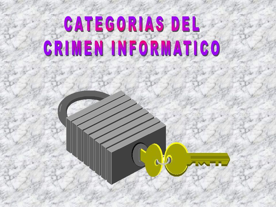b La introducción de datos o registros fraudulentos, el uso no autorizado de los recursos y facilidades, la alteración o destrucción de información o de archivos y el robo a través de medios electrónicos o de otros medios representan las diferentes categorías del crimen relacionado con el computador.