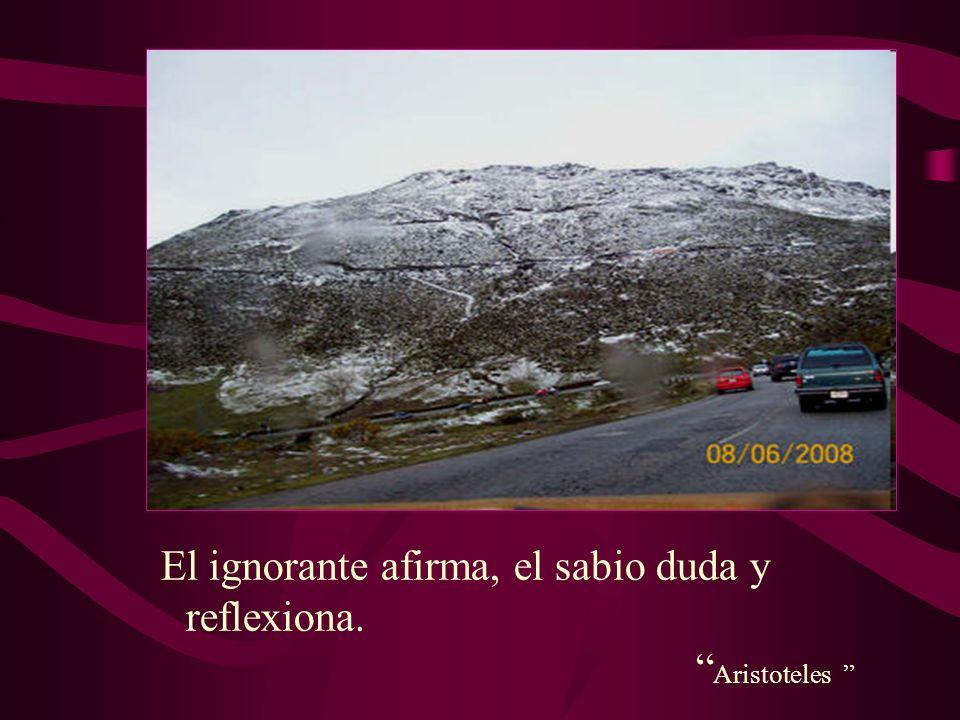 El ignorante afirma, el sabio duda y reflexiona. Aristoteles