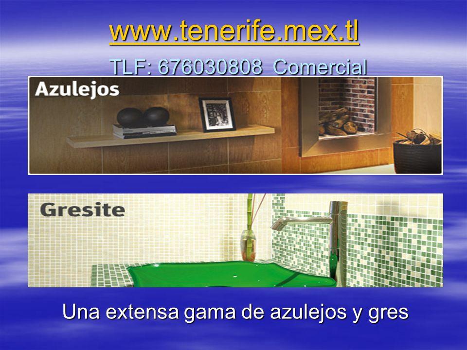www.tenerife.mex.tl www.tenerife.mex.tl TLF: 676030808 Comercial www.tenerife.mex.tl Una extensa gama de azulejos y gres