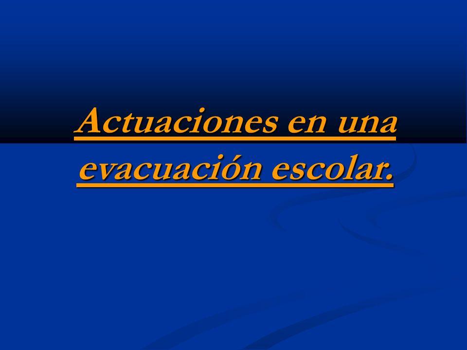 En caso de emergencia se seguirán los siguientes pasos: 1.- Llamada dos timbres cortos para reunir al Equipo de Primera Intervención(EPI).