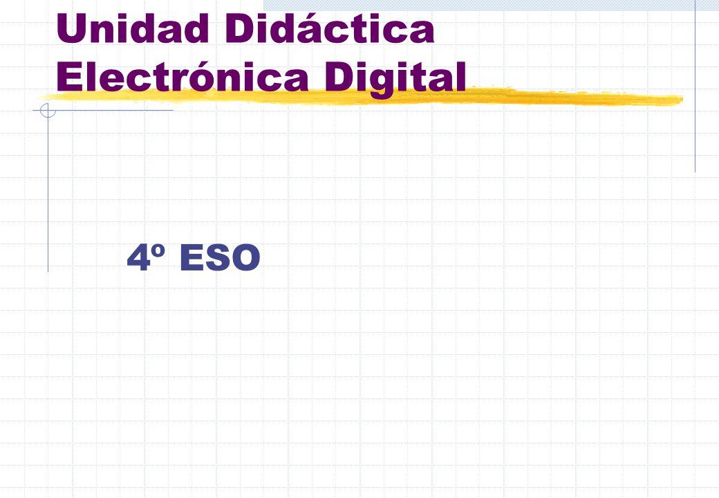 Unidad Didáctica Electrónica Digital 4º ESO