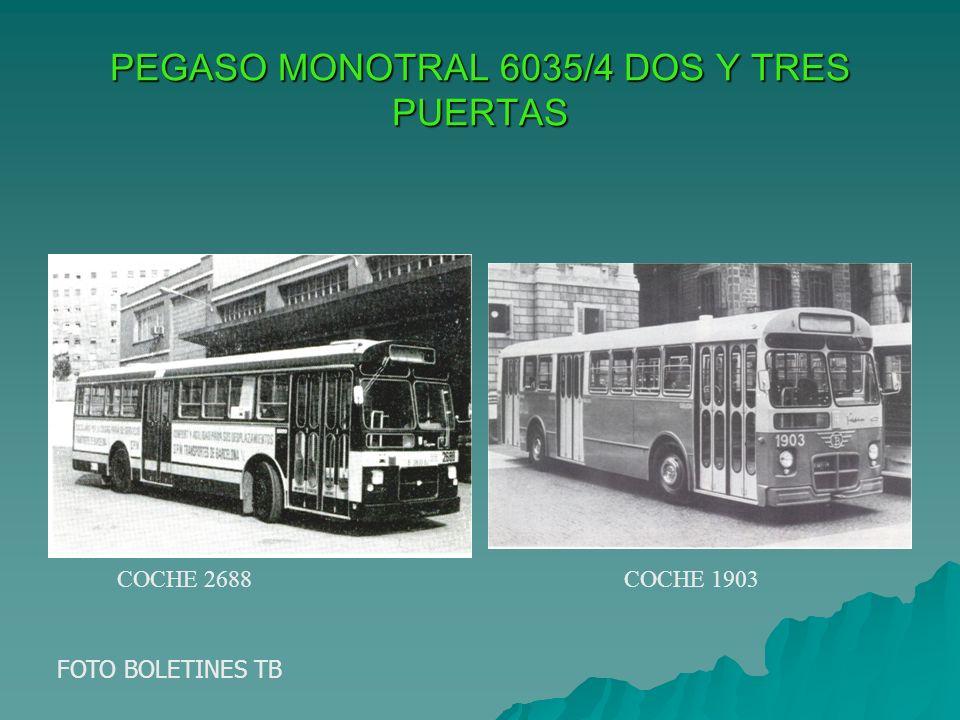 PEGASO MONOTRAL 6035/4 DOS Y TRES PUERTAS FOTO BOLETINES TB COCHE 2688COCHE 1903