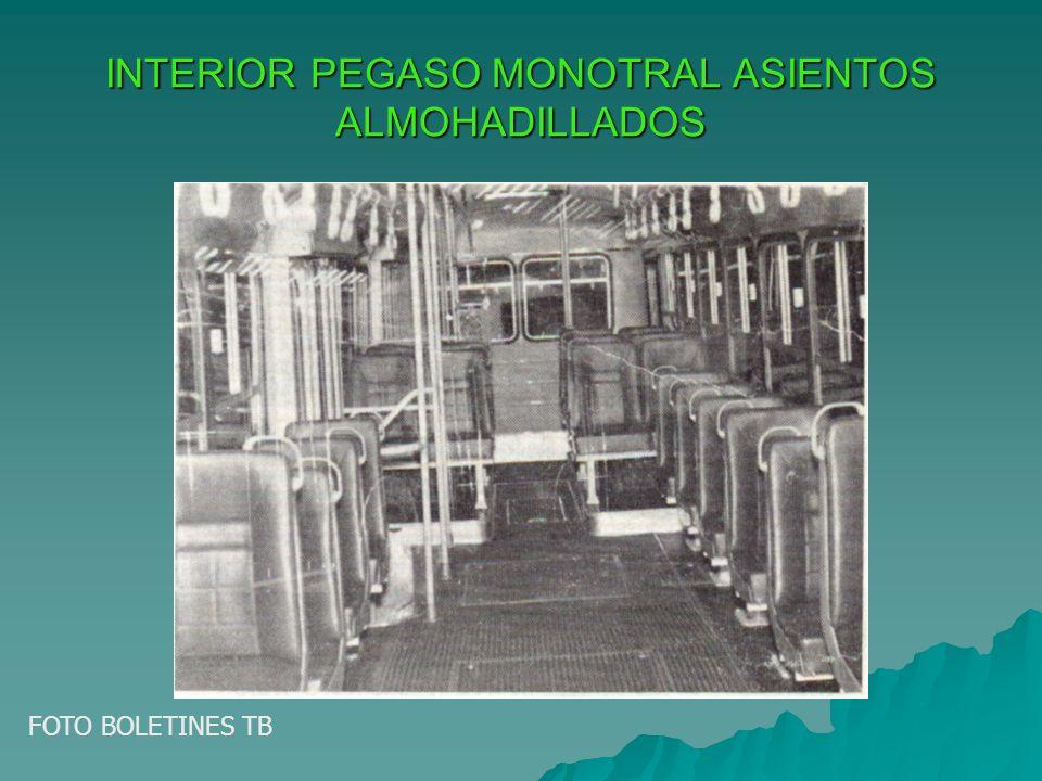 INTERIOR PEGASO MONOTRAL ASIENTOS ALMOHADILLADOS FOTO BOLETINES TB