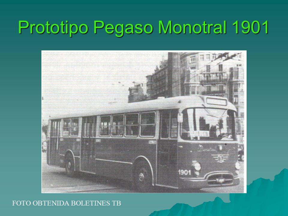 Prototipo Pegaso Monotral 1901 FOTO OBTENIDA BOLETINES TB