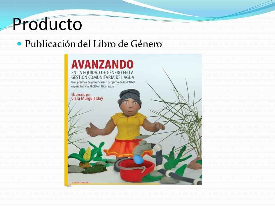 Producto Publicación del Libro de Género