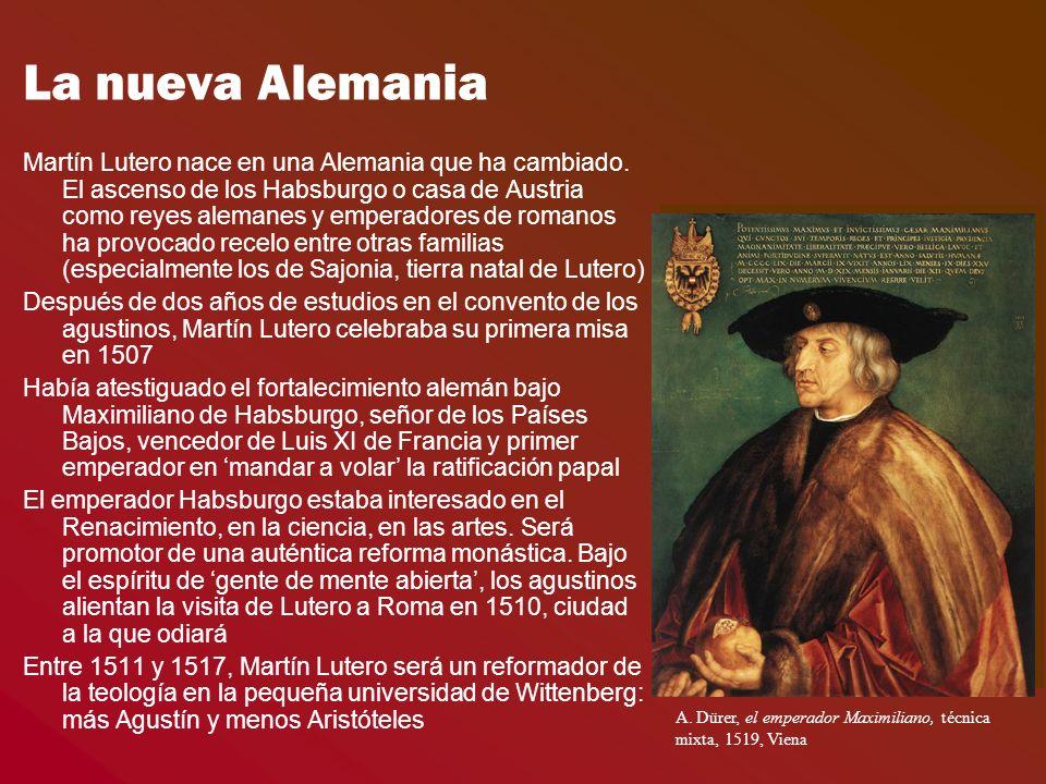 La nueva Alemania Martín Lutero nace en una Alemania que ha cambiado.