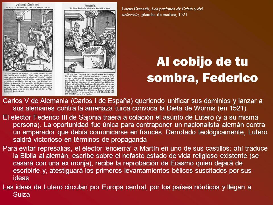 Al cobijo de tu sombra, Federico Carlos V de Alemania (Carlos I de España) queriendo unificar sus dominios y lanzar a sus alemanes contra la amenaza t