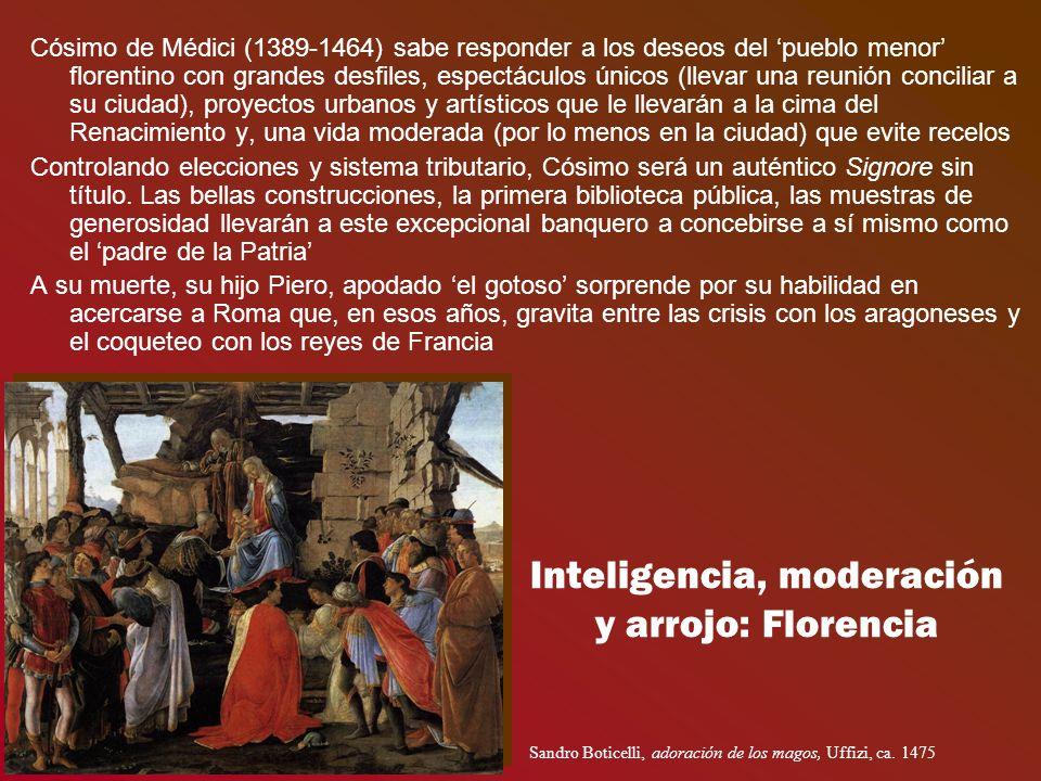 Inteligencia, moderación y arrojo: Florencia Cósimo de Médici (1389-1464) sabe responder a los deseos del pueblo menor florentino con grandes desfiles