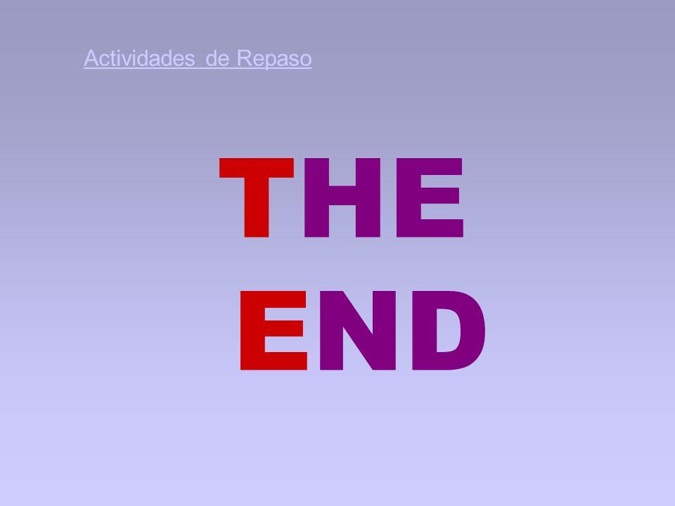 THE END Actividades de Repaso