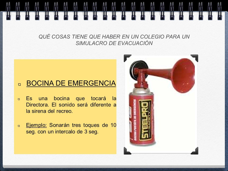 NORMA 7: La evacuación de un grupo se realizará en fila de uno.