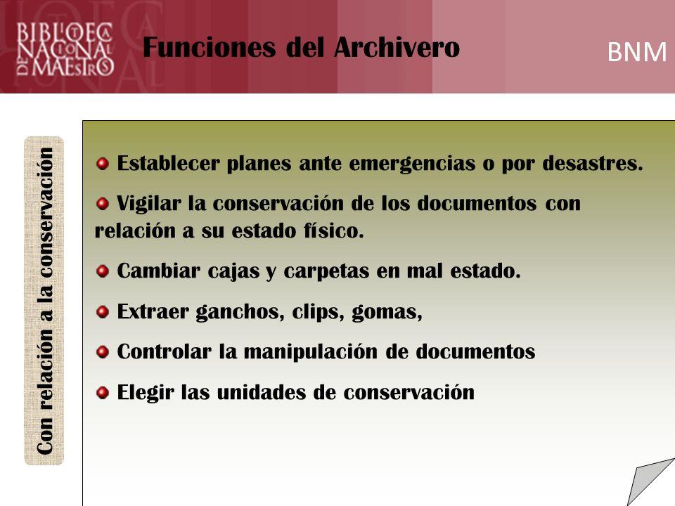 BNM Formación Establecer planes ante emergencias o por desastres.