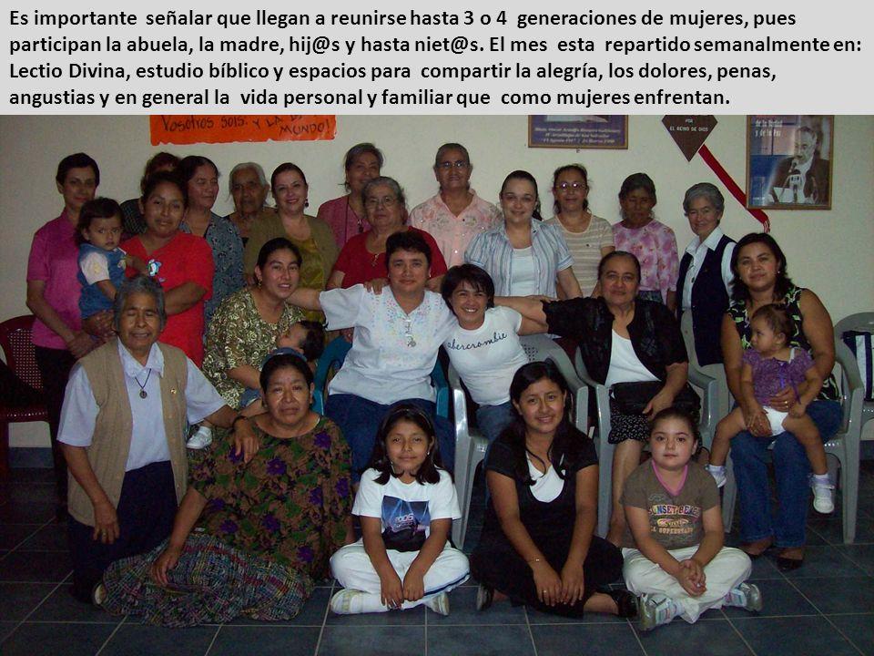 Se continuó el acompañamiento a un grupo de mujeres que semanalmente comparten su vida y reflexión cristiana. Este grupo ha cumplido 3 años de haberse
