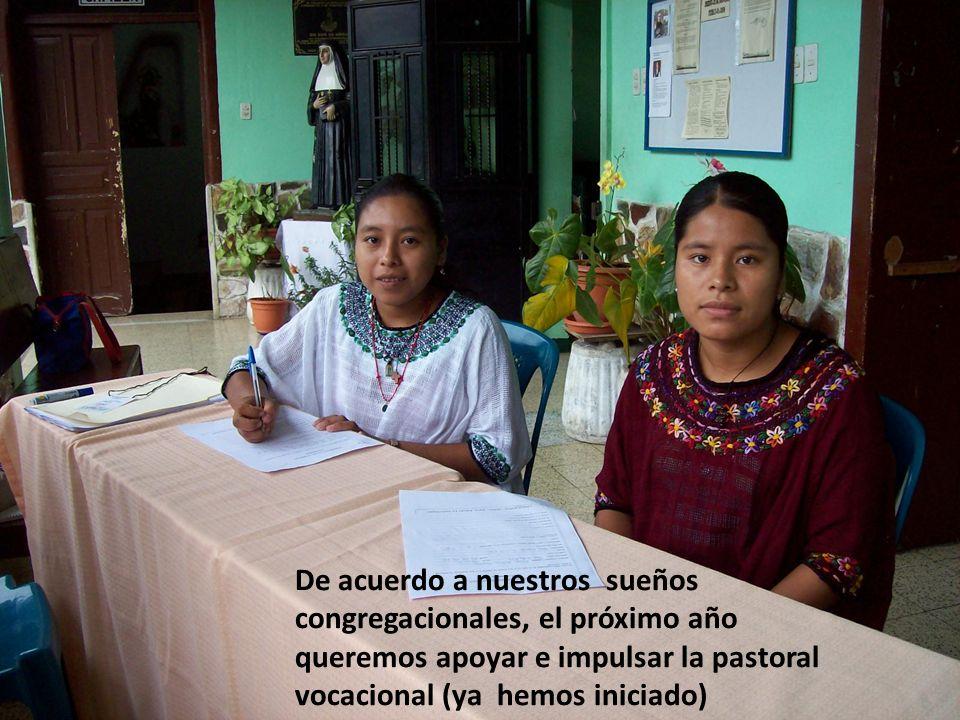 Como hermanas estamos muy agradecidas con ella por su presencia, apoyo e impulso a la comunidad y ministerio pastoral en este país, valoramos su capac