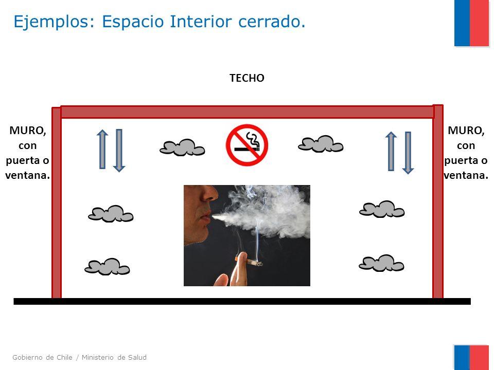 Gobierno de Chile / Ministerio de Salud Ejemplos: Espacio Interior cerrado. MURO, con puerta o ventana. TECHO MURO, con puerta o ventana.