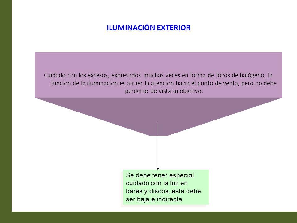 ILUMINACIÓN EXTERIOR Cuidado con los excesos, expresados muchas veces en forma de focos de halógeno, la función de la iluminación es atraer la atenció