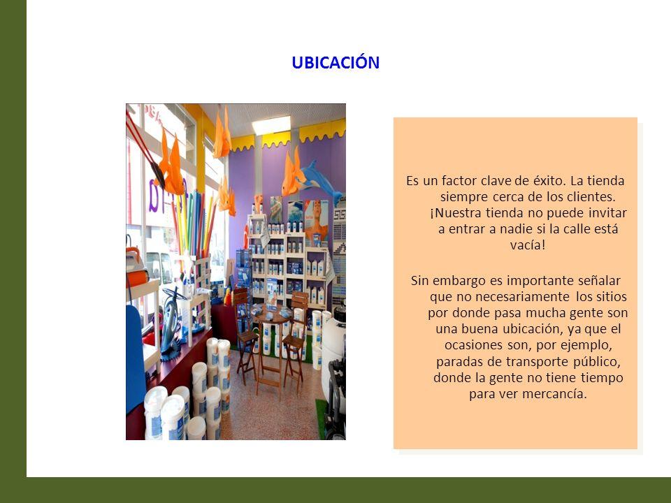 UBICACIÓN Es un factor clave de éxito. La tienda siempre cerca de los clientes. ¡Nuestra tienda no puede invitar a entrar a nadie si la calle está vac