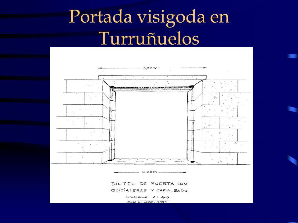Portada visigoda en Turruñuelos