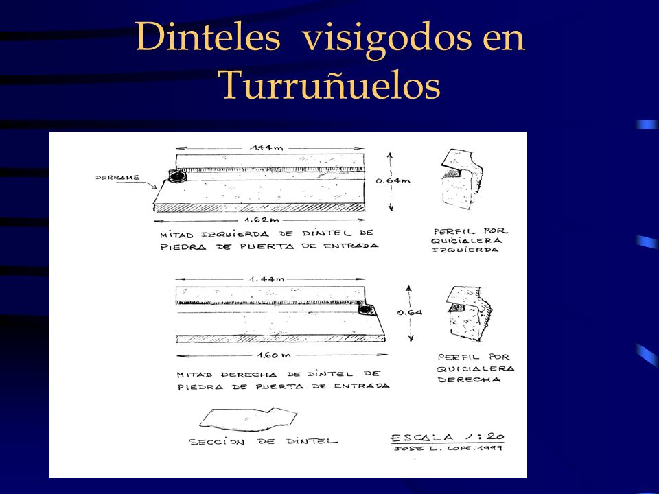 Dinteles visigodos en Turruñuelos
