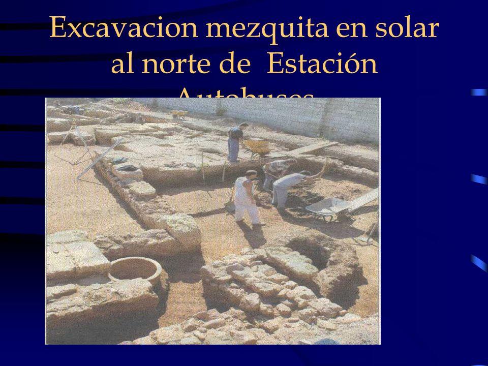 Excavacion mezquita en solar al norte de Estación Autobuses