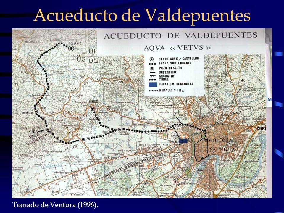 Tomado de Ventura (1996). Acueducto de Valdepuentes