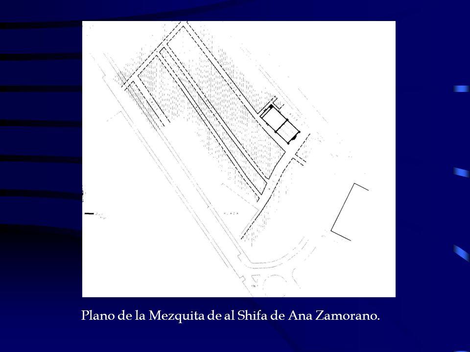 Plano de la Mezquita de al Shifa de Ana Zamorano.