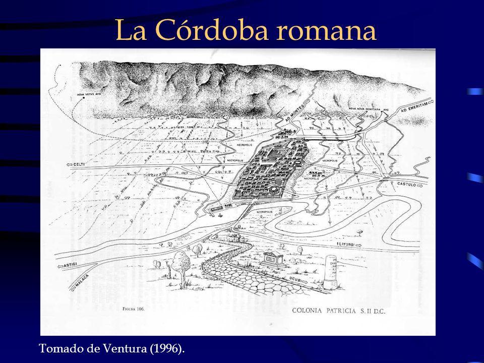 Tomado de Ventura (1996). La Córdoba romana
