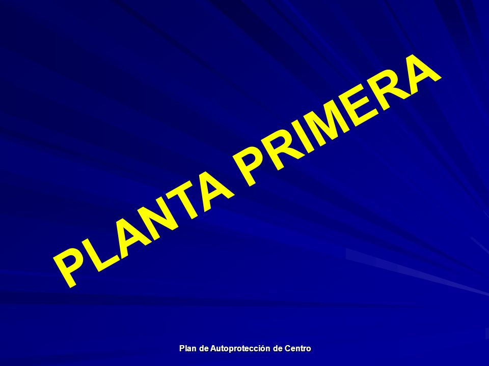 Plan de Autoprotección de Centro Plan de Autoprotección de Centro PLANTA PRIMERA