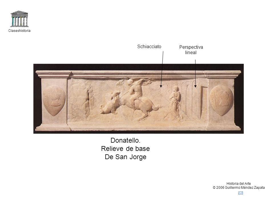 Claseshistoria Historia del Arte © 2006 Guillermo Méndez Zapata Donatello. Relieve de base De San Jorge Schiacciato Perspectiva lineal