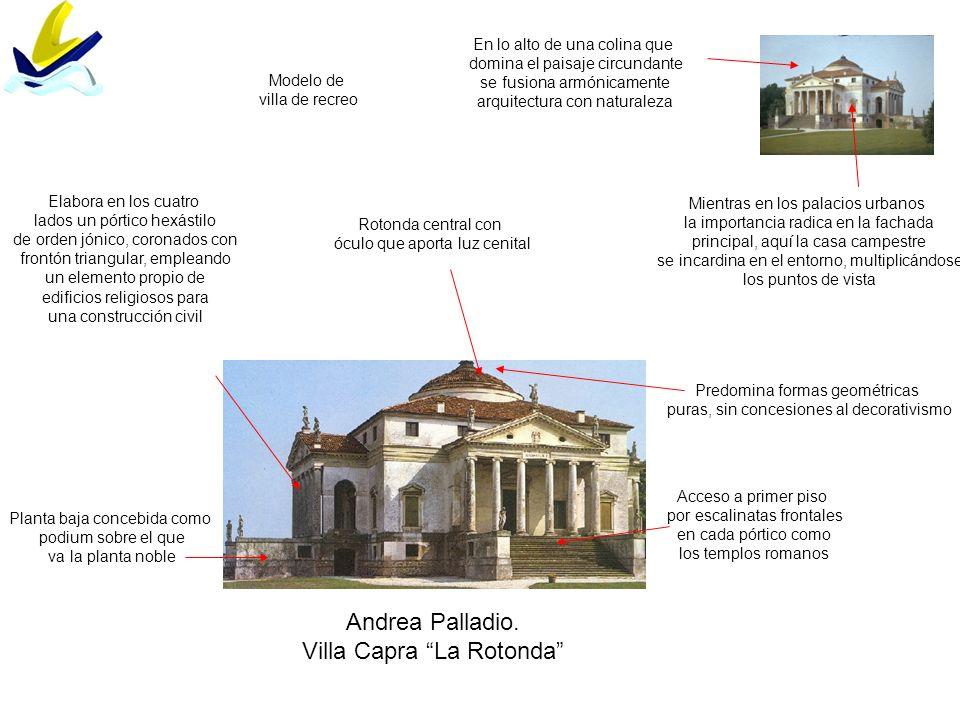 Andrea Palladio. Villa Capra La Rotonda En lo alto de una colina que domina el paisaje circundante se fusiona armónicamente arquitectura con naturalez