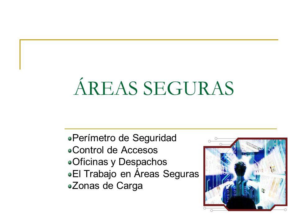 ÁREAS SEGURAS Perímetro de Seguridad Control de Accesos Oficinas y Despachos El Trabajo en Áreas Seguras Zonas de Carga