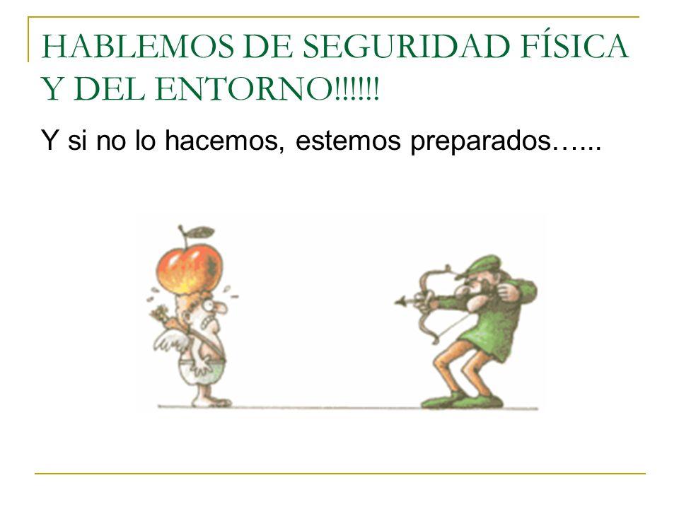 HABLEMOS DE SEGURIDAD FÍSICA Y DEL ENTORNO!!!!!! Y si no lo hacemos, estemos preparados…...