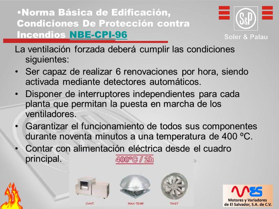 Norma Básica de Edificación, Condiciones De Protección contra Incendios NBE-CPI-96Norma Básica de Edificación, Condiciones De Protección contra Incend