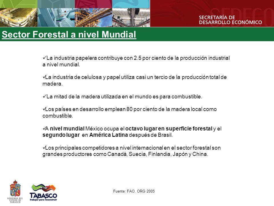 Sector Forestal en México 1.Papel, cartón y manufacturas forestales: 49.2% de las exportaciones.