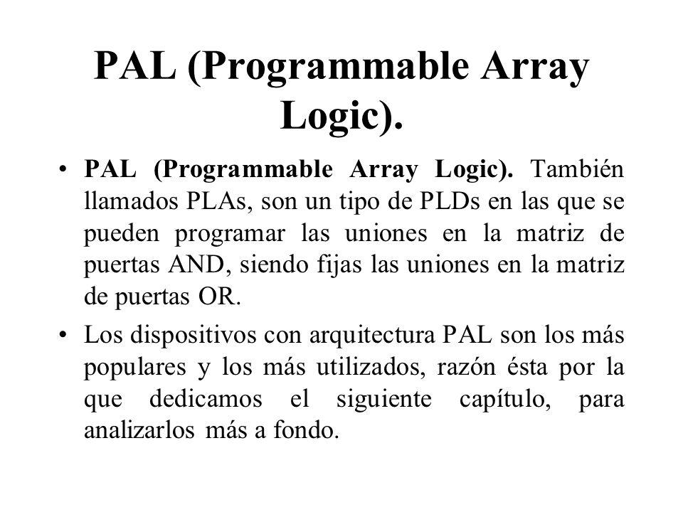 PAL (Programmable Array Logic).PAL (Programmable Array Logic).