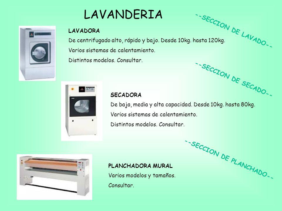 LAVANDERIA LAVADORA De centrifugado alto, rápido y bajo.