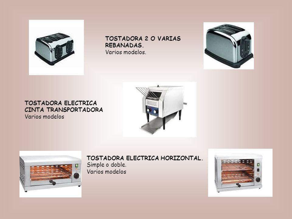 TOSTADORA ELECTRICA CINTA TRANSPORTADORA Varios modelos TOSTADORA 2 O VARIAS REBANADAS.