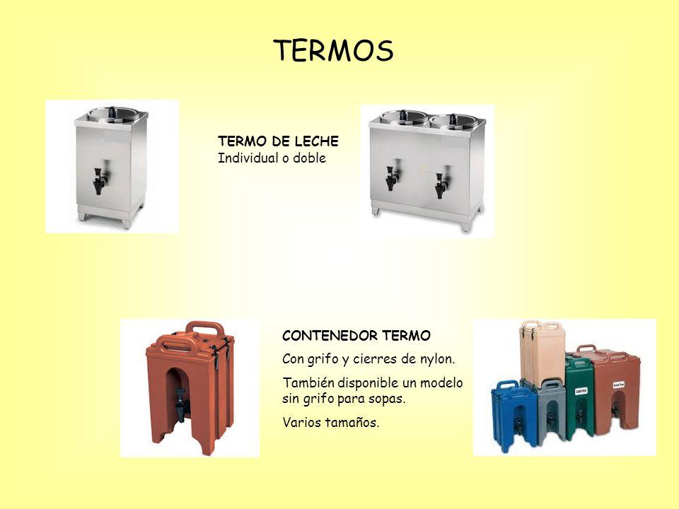 TERMOS TERMO DE LECHE Individual o doble CONTENEDOR TERMO Con grifo y cierres de nylon.