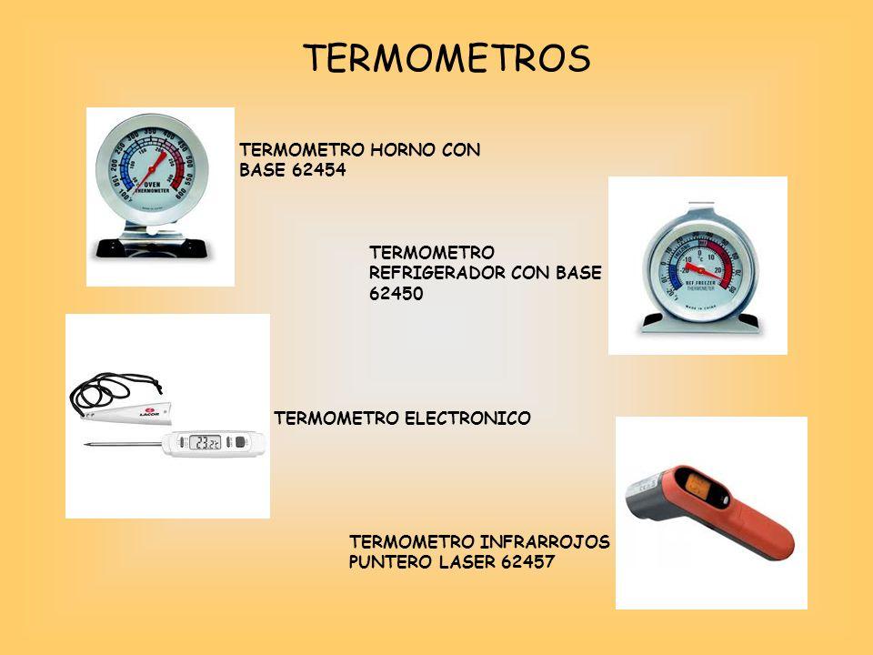 TERMOMETROS TERMOMETRO HORNO CON BASE 62454 TERMOMETRO REFRIGERADOR CON BASE 62450 TERMOMETRO ELECTRONICO TERMOMETRO INFRARROJOS PUNTERO LASER 62457