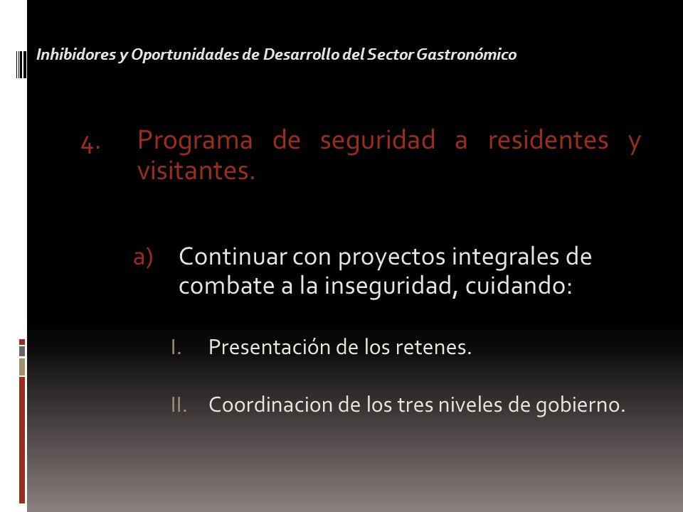 4. Programa de seguridad a residentes y visitantes.