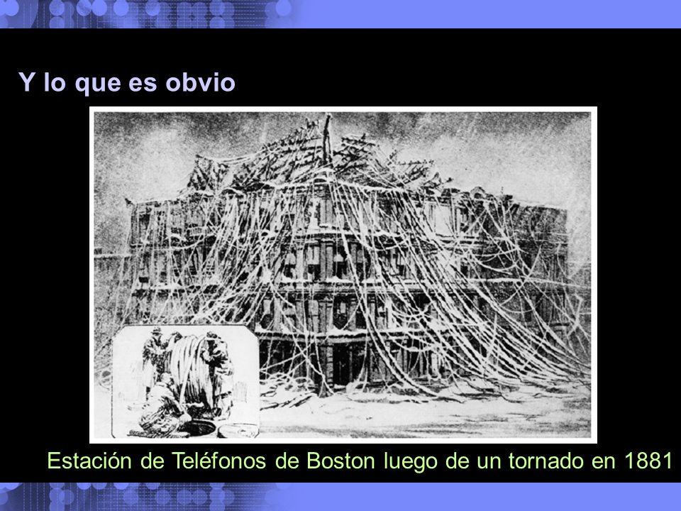 Y lo que es obvio La Integración de todo Estación de Teléfonos de Boston luego de un tornado en 1881