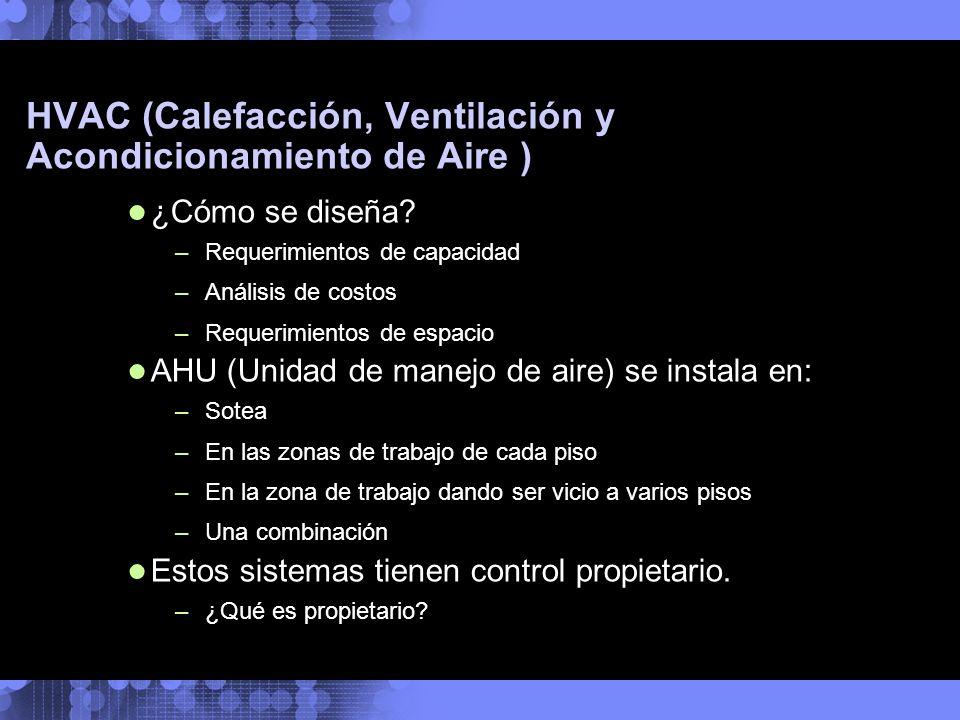 ¿Cómo se diseña? –Requerimientos de capacidad –Análisis de costos –Requerimientos de espacio AHU (Unidad de manejo de aire) se instala en: –Sotea –En