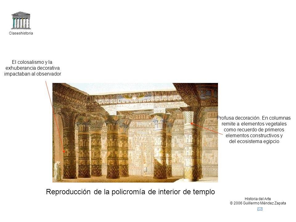 Claseshistoria Historia del Arte © 2006 Guillermo Méndez Zapata Reproducción de la policromía de interior de templo Profusa decoración.