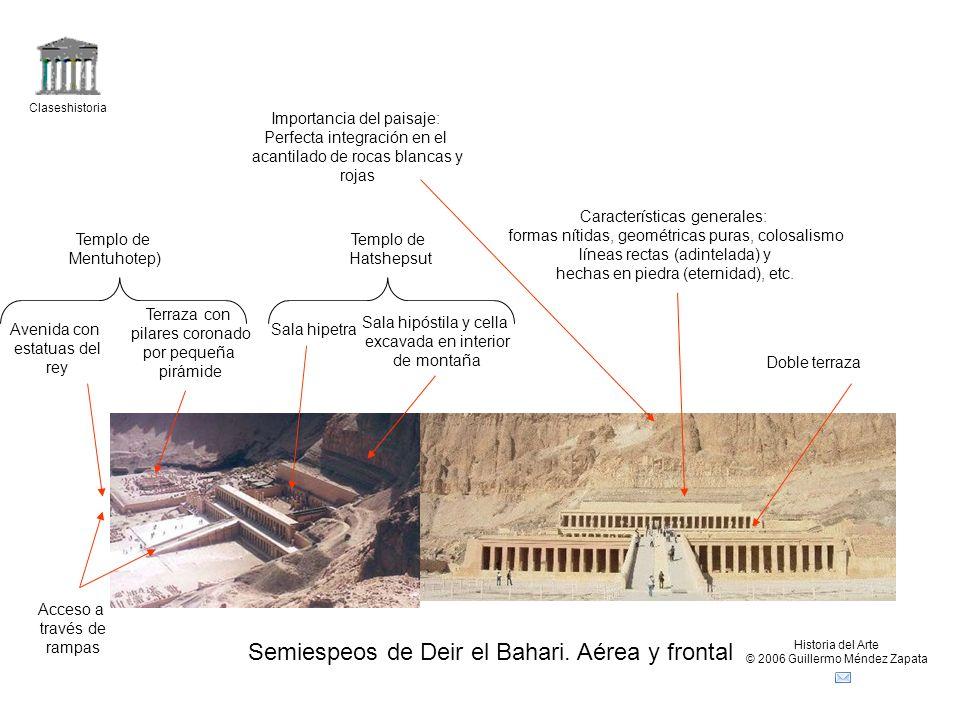 Claseshistoria Historia del Arte © 2006 Guillermo Méndez Zapata Semiespeos de Deir el Bahari.