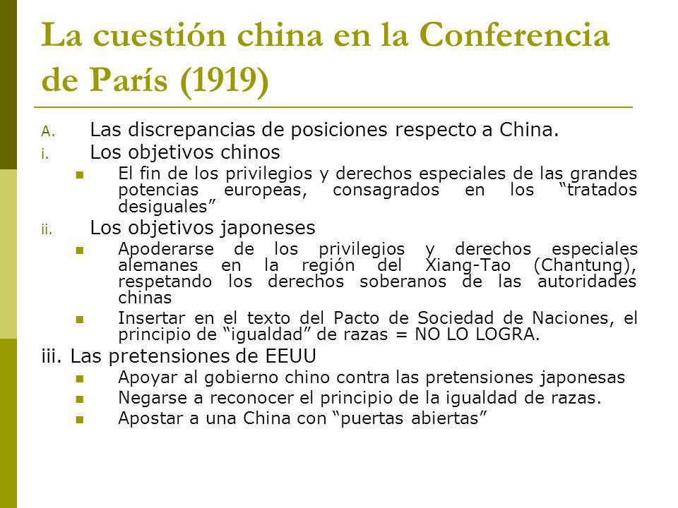 La cuestión china en la Conferencia de París (1919) A.