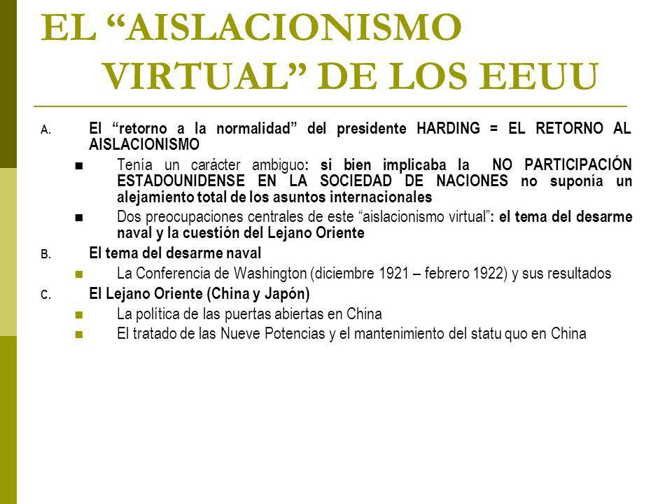 EL AISLACIONISMO VIRTUAL DE LOS EEUU A.