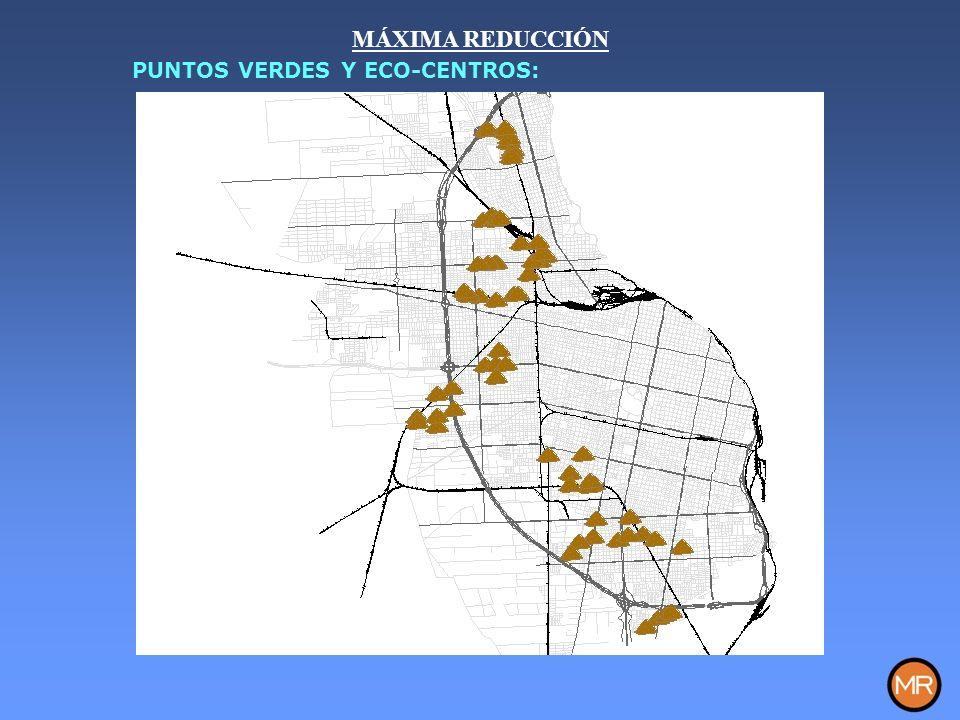 MÁXIMA REDUCCIÓN PUNTOS VERDES Y ECO-CENTROS: